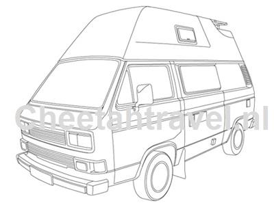 tekeningen volkswagen busjes cheetahtravel