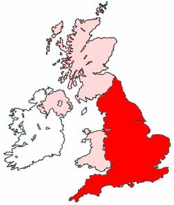In het rood is engeland ook vereningd koningrijk genoemd, daarboven
