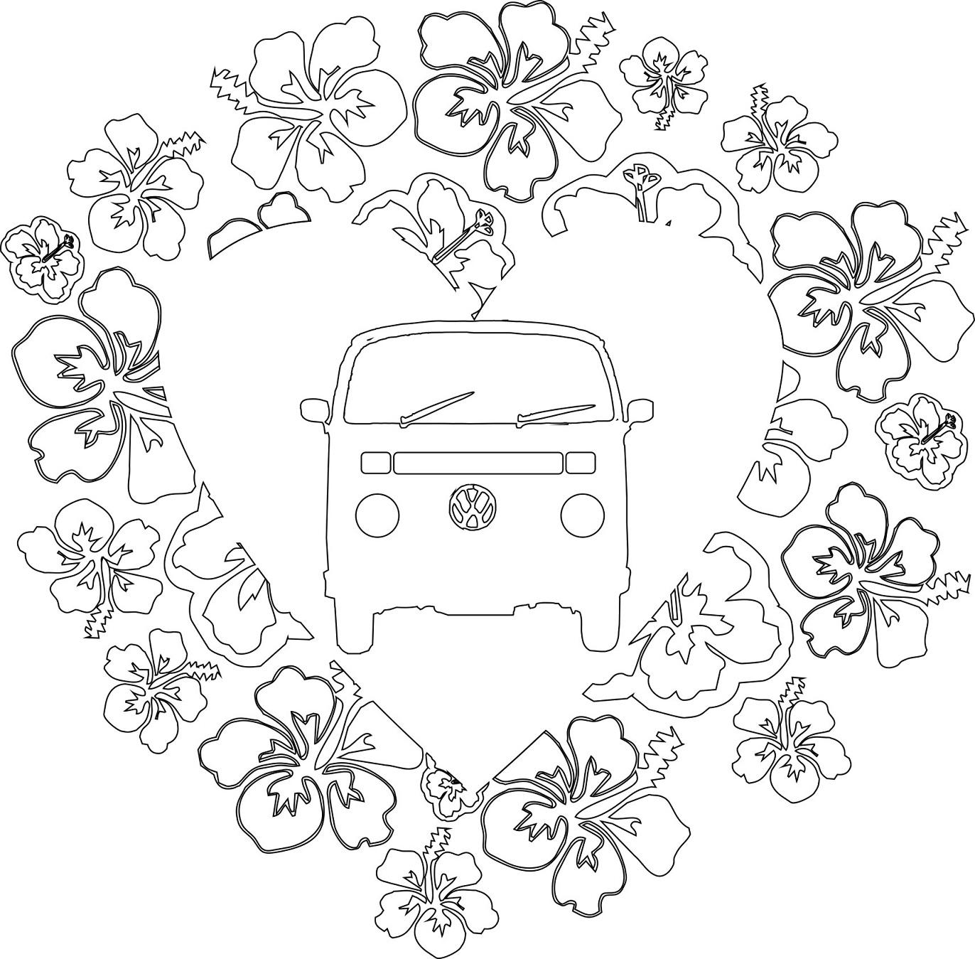 tekeningen van volkswagen busjes