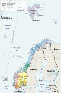provincie kaart Noorwegen