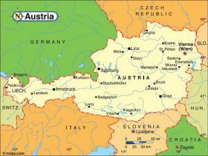 austria Map verkleind