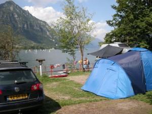 Camping vantone aan idro meer