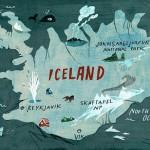 IJsland kaart