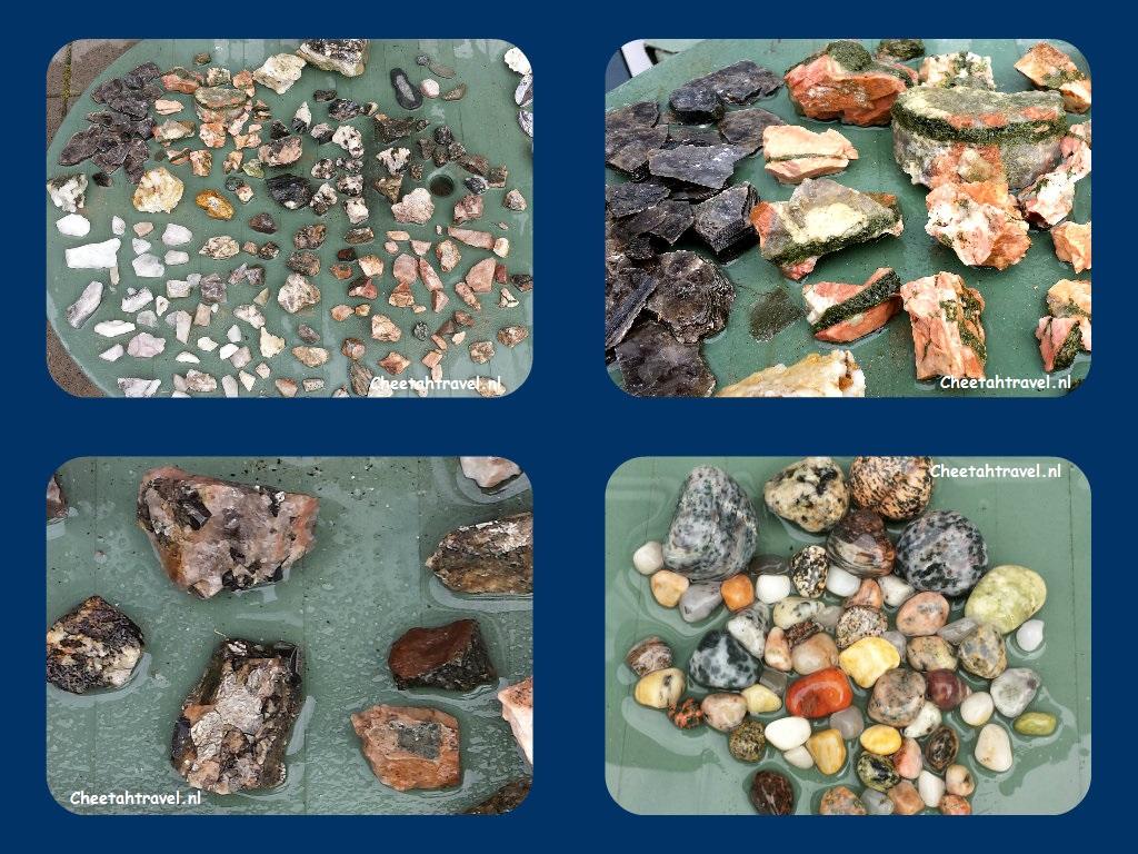 gevonden stenen in de groeve