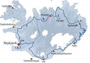 route 1 ijsland